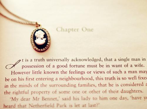 Pride & Prejudice--Chapter One Image--Jane Austen
