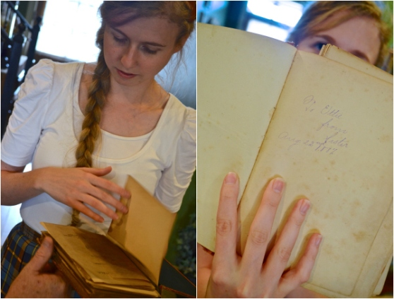 Vintage Books with Inscription