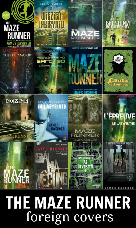 the maze runner foreign covers