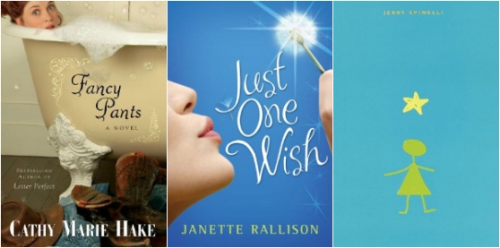 fancy pants by cathy Marie Hake, just one wish by Janette Rallison, Stargirl by Jerry Spinelli | young adult books to reread