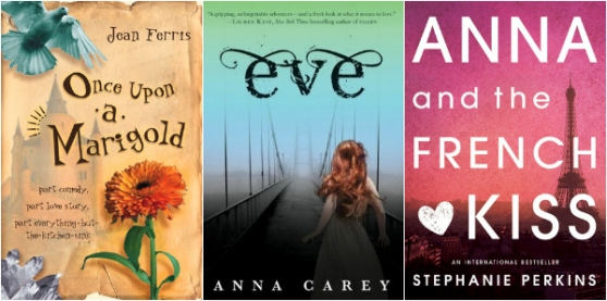 Once Upon a Marigold by Jean Farris, Eve by Anna Carey, Anna and the French Kiss by Stephanie Perkins | Books to reread