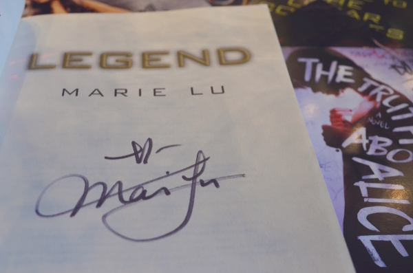 Signed copy of Legend by Marie Lu