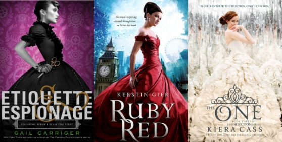 Etiquette & Espionage by Gail Carriger, Ruby Red by Kerstin Gier, The One by Kiera Cass Top Ten Books