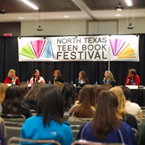 Boarding Pass panel at NTTBF15 with Adi Alsaid, Ally Carter, Elizabeth Eulberg, Stephanie Perkins, Jennifer E. Smith, moderated by Sarah Enni