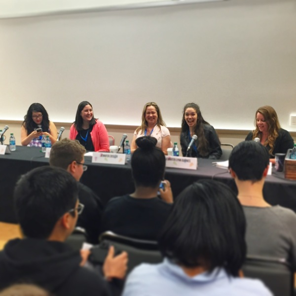 Jen Panel with Jenny Han, Jennifer Lynn Barnes, Jennifer E. Smith, Jennifer Ziegler, and Jen Bigheart NTTBF
