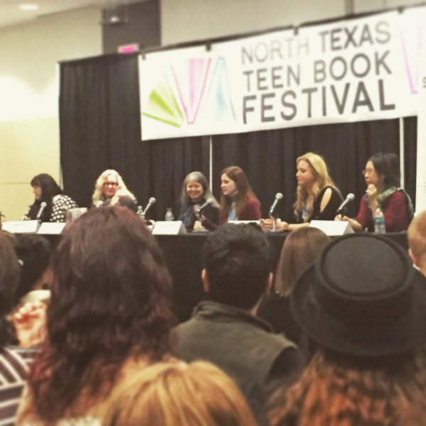 Unlikely Place for Love panel with Leigh Bardugo, Julie Kagawa, April Genevieve Tucholke, Rachel Vincent, moderated by Naomi Bates NTTBF