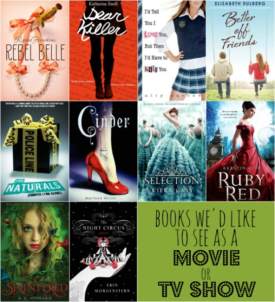 Top Ten YA Books We'd Like to See as a Movie or TV show