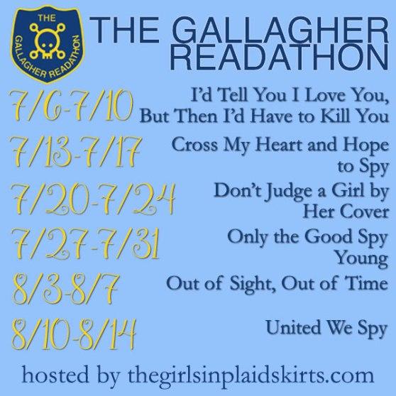 Gallagher Girl Readathon Schedule hosted by thegirlsinplaidskirts.com