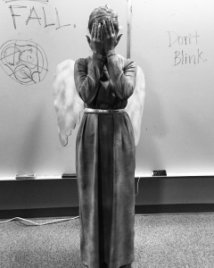 our very own weeping angel!